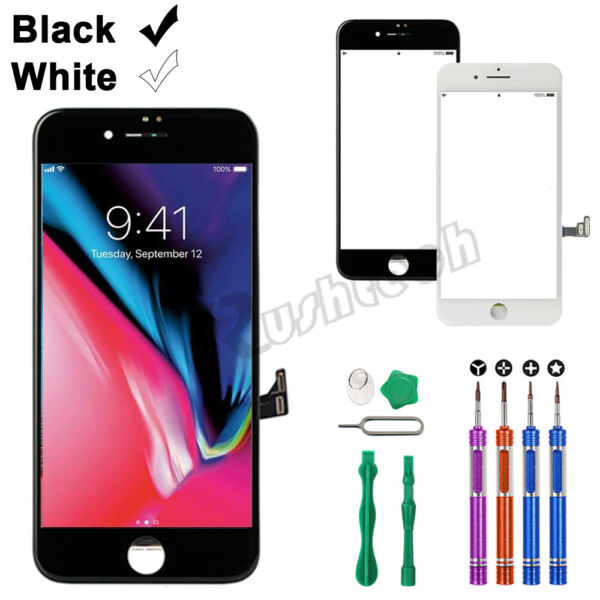 For iPhone 8 7 Plus LCD Touch Display Screen Digitizer Replacement 9 In 1 Tool