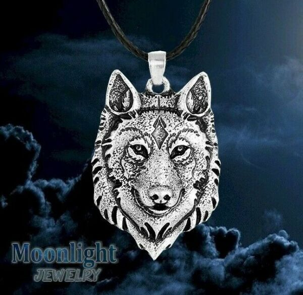 New Silver Wolf Head Nordic Pendant Viking Necklace $8.95