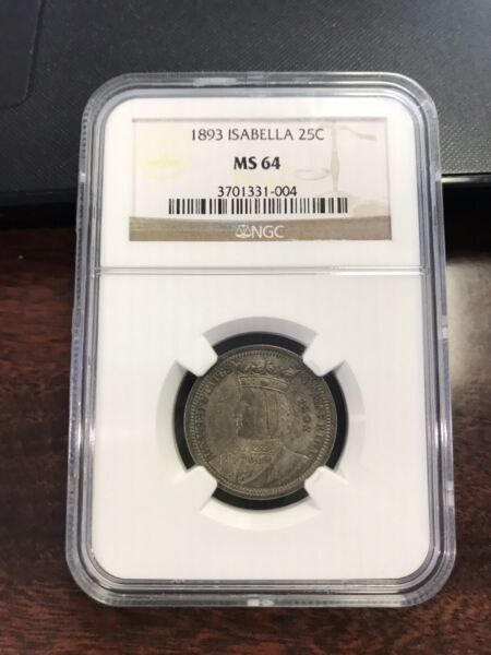 1893 Isabella Commemorative Quarter NGC MS64