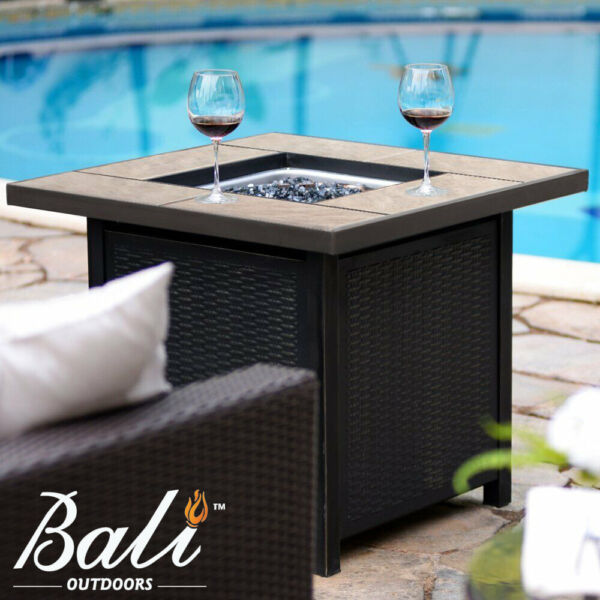 32quot;LPG Propane Gas Fire Pit Table Fireplace Patio Heater Outdoor Backyard Gift