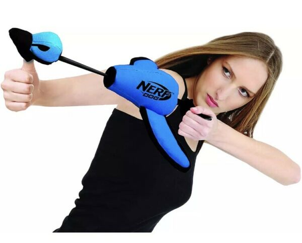 Nerf Dog Large Nylon Launching Interactive Design Blue Duck Fetch Toy Throw New $19.99