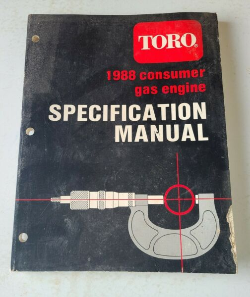 1988 TORO GAS ENGINE SPECIFICATION MANUAL