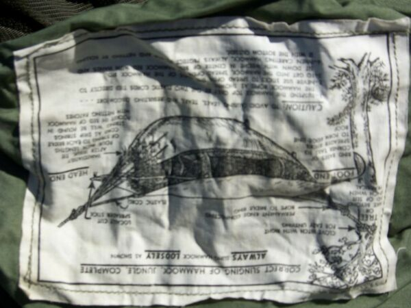 WW2 US ARMY 1945 JUNGLE HAMMOCK COMPLETE MINT $175.00