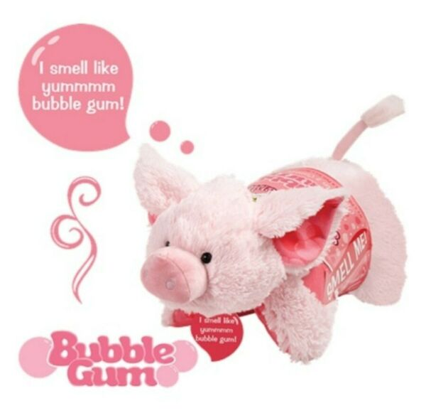 SWEET SCENTED BUBBLE GUM PIGGY PILLOW PET IN HAND FREE USPS PRIORITY SHIPPING $49.99