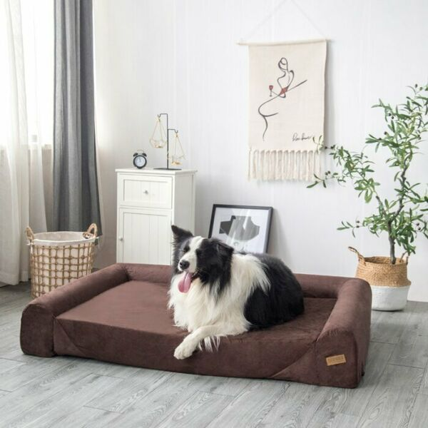 Extra Large Dog Bolster Sofa Bed Pet Couch Chair Seat Couch Cushion Orthopedic $220.99