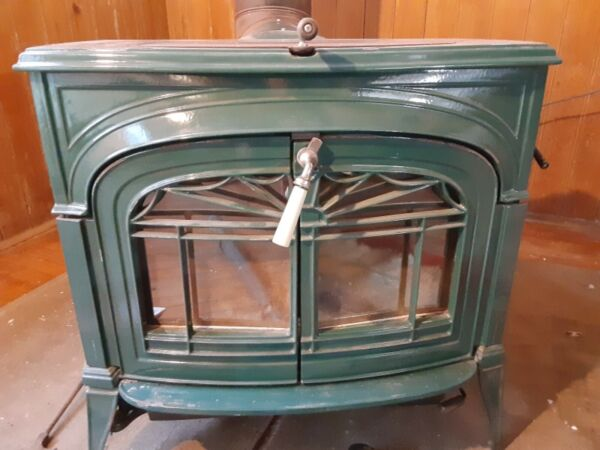 Green Vermont Casting wood stove $650.00