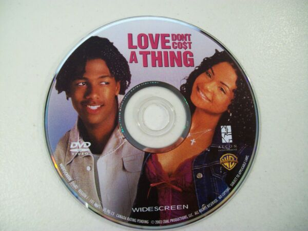 Love Don#x27;t Cost a Thing DVD 2004 Widescreen Steve Harvey Nick Cannon Disc Only $3.99