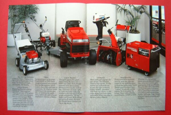 1986 Honda Lawn Mowers Tillers Tractors Snowthrowers 2 pages Color AD