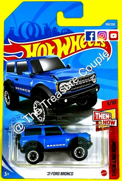 Hot Wheels #x27;21 Ford Bronco Blue Then and Now 2021 Case NEW S9 $17.15