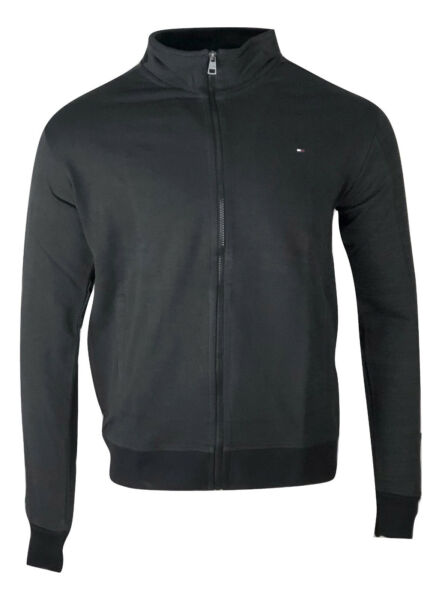 Tommy Hilfiger Men#x27;s Full Zip Sweater Jacket Black $24.50