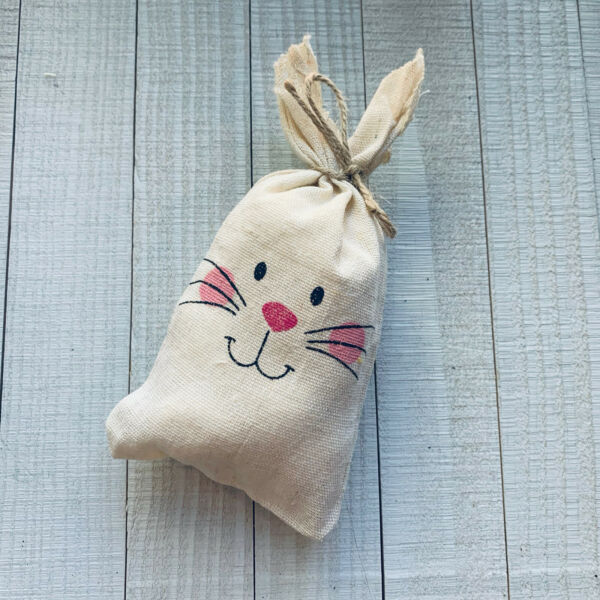 Easter Burlap Bags with Drawstrings Bunny Linen Goody Gift Bags Set Of 12