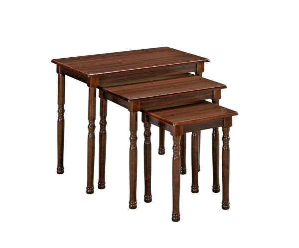 Cute Cherry Brown 3 Piece Nesting Table set