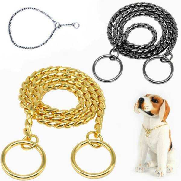 Pet Dog Snake Chain Training Collar Pet Heavy Duty Dog Product Accessories $7.00