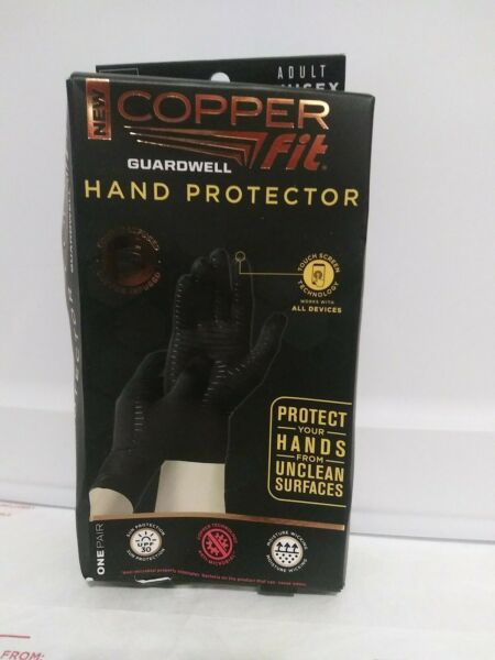 Copper Fit Guardwell Hand Protector Gloves Touch Screen Small Medium Open Box