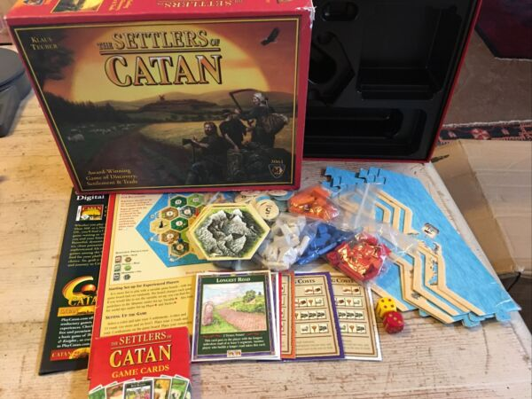 The Settlers of Catan Board Game Klaus Teuber Mayfair Games 3061 Complete