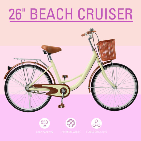 Comfort Classic Ride Beach Cruiser 26 Inch Bicycle Step through Frame $188.99