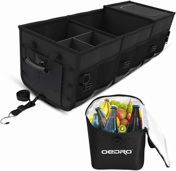 OEDRO Collapsible Portable Car Trunk Organizer for SUV Truck w Removable Cooler $68.99