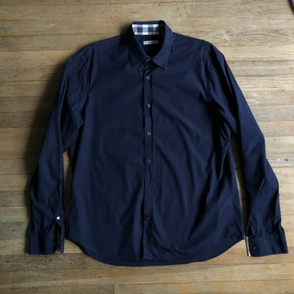 Burberry Men's Navy Button Down Shirt Size XL $50.00