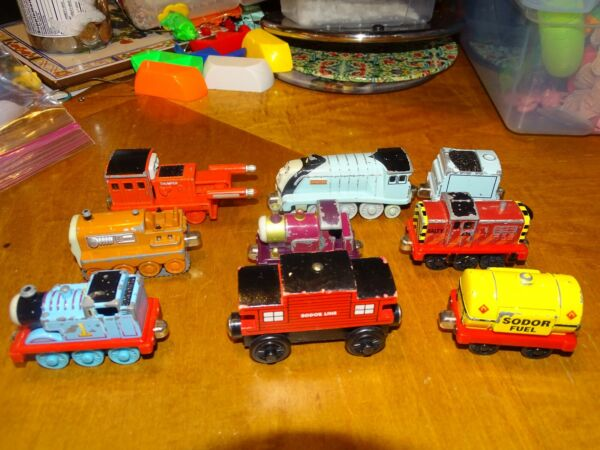 9 pc Thomas train lot die cast amp; wood lady Thumper terrible Spencer Salty more