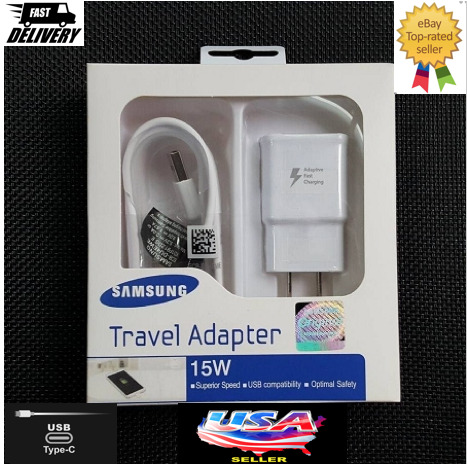 Original Samsung Galaxy Note10 S8 S9 S10 Plus Fast Car Wall Charger Type C Cable $11.97