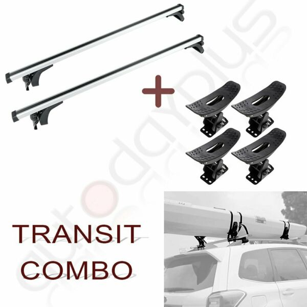 Luggage Roof Rack Cross Bar Carrier For Silver 50quot; universal rack kayak Blk $109.94
