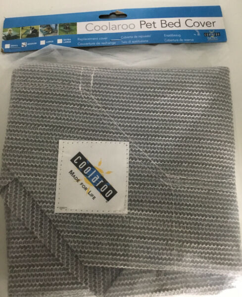 Coolaroo Dog Bed Replacement Cover Gray Medium New In Package $15.00