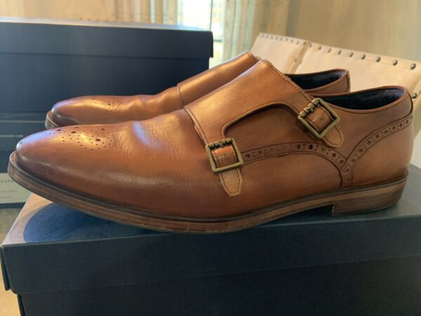 Cole Haan Men#x27;s Hamilton Grand Double Monk British Tan Style C26164 SIZE 14 $48.00