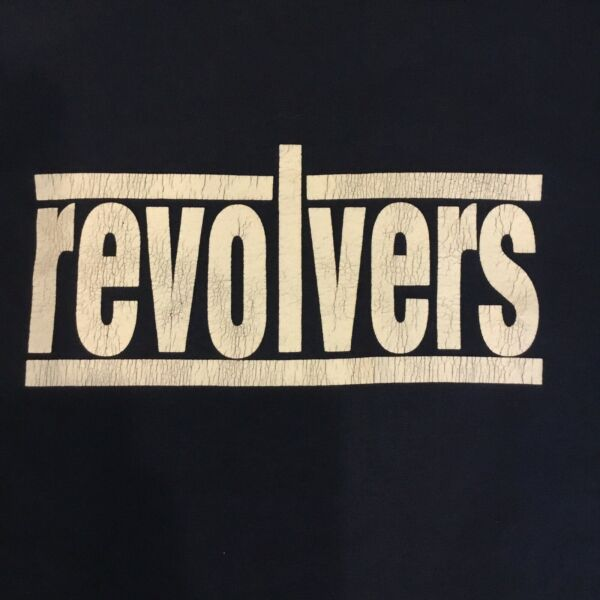 Vintage Revolvers Navy Hanes 50 50 Single Stitch Tee T shirt XL X Large