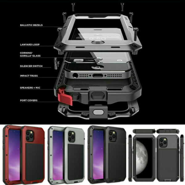 Aluminum Heavy Duty Case Shockproof For iPhone 12 11 SE XR XS 8 7 Pro Max $13.29