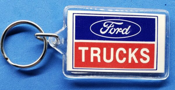 Vintage FORD Trucks Keyring Keychain Ford Motor Company made in USA