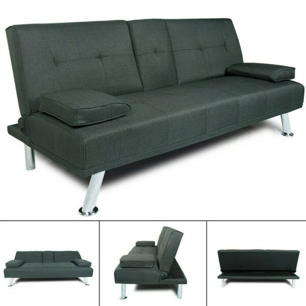 66.2in Sofa Bed Sleeper Convertible Couch Loveseat Futon Chair Living Room Seat $79.99