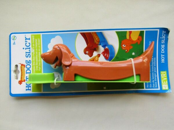 Hot Dog Holder and Slicer Snack Fun Lunches for Kids No Sharp Blades Color Green $12.99