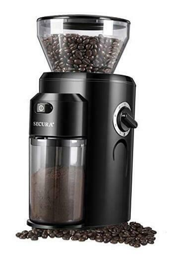 Burr Coffee Grinder Conical Burr Mill Grinder with 18 Grind Settings from