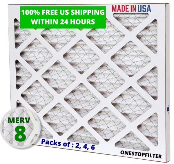 14x14x1 Air Filter Pleated HVAC AC Furnace MERV 8 Pack of 2 4 or 6 $26.00