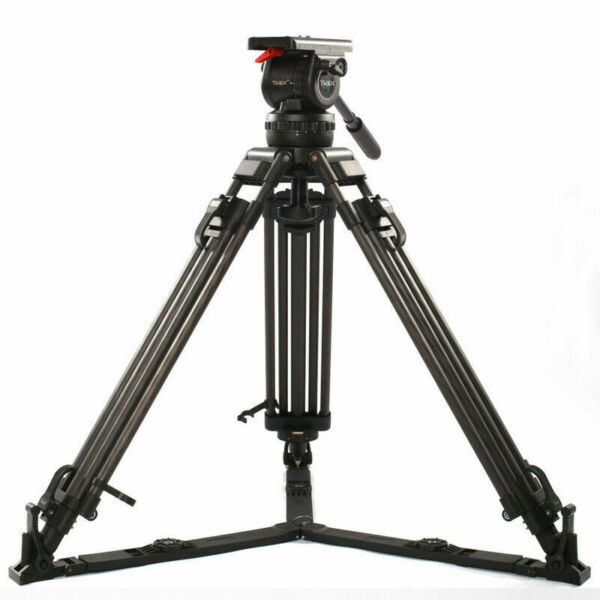 TX12 Carbon Fiber Camera Tripod Fluid Head Fit For Tilta Red Scarlet Epic FS700