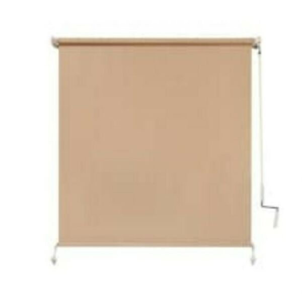 NEW Coolaroo 48quot; x 72quot; Outdoor Cordless Roller Shade 80% UV Protection $39.00