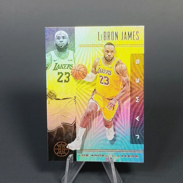 PANINI LAKERS Lebron James HOLO REFRACTOR CARD MINT INVESTMENT