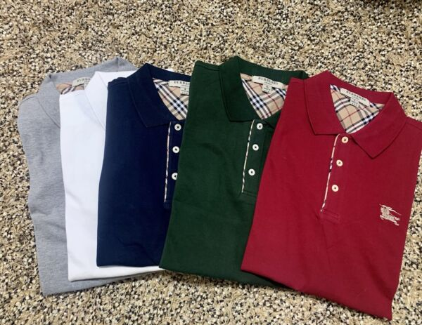 BURBERRY BRIT POLO OUTLET SHORT SLEEVE CHECK PLACKET SHIRT S M L XL XXL $69.99