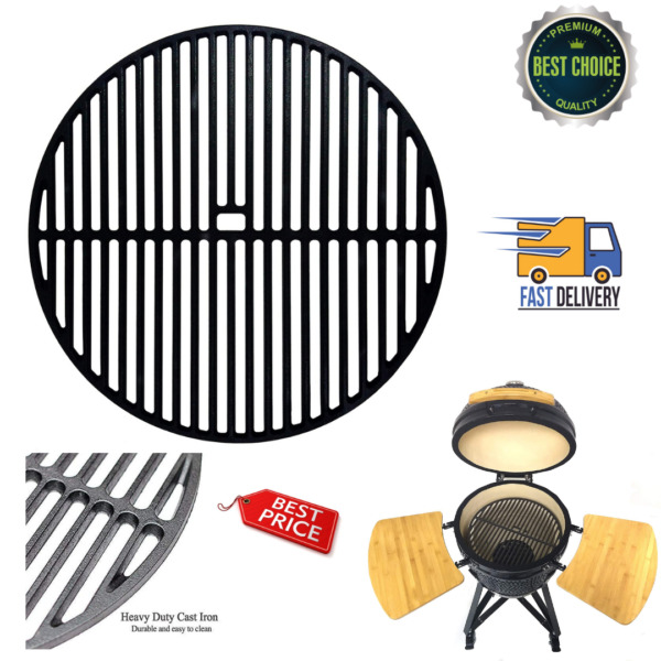 18quot; Cast Iron Round Cooking Grate Kamado Joe Classic Large Big Green Egg Vision