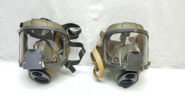 **SET OF 2** INTERSPIRO SPIROMATIC Full Face Masks FIRE GAS SCBA RESCUE