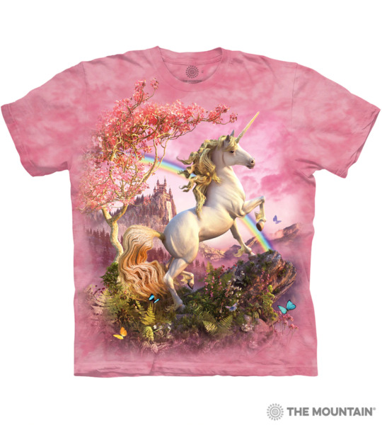 The Mountain Kids Short Sleeves Graphic T Shirt Awesome Unicorn $12.90