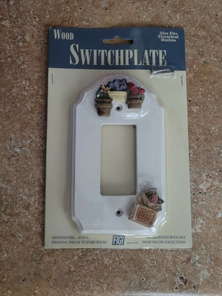 VINTAGE FIGI WOOD SWITCH PLATE COVER NEW HAND PAINTED $14.50
