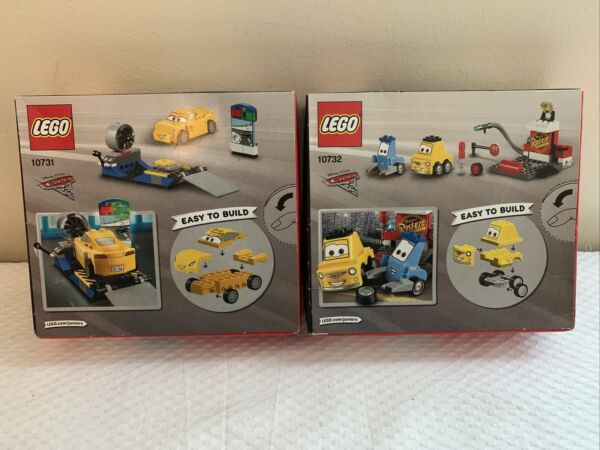 Lego Junior Pixar Cars 3 10732 Guido Luigis Pit Set and 10731 Cruz Sealed