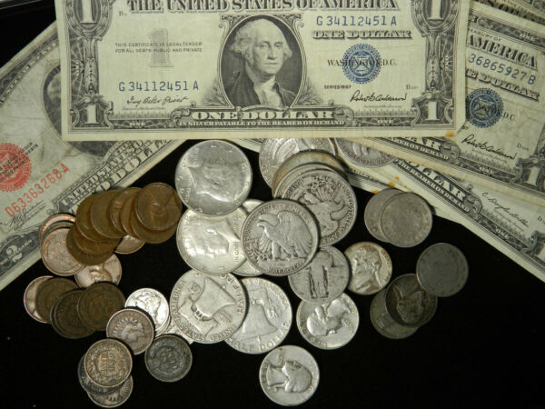 ESTATE SALE OLD US COINS SILVER HALF GOLD BULLION LOT VINTAGE COLLECTION