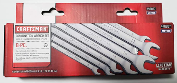 Craftsman 8 pc. Metric 12 pt. Combination Wrench Set 46867