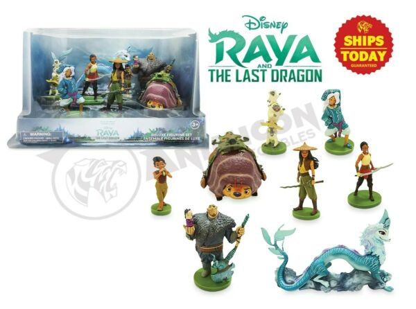 Disney Store RAYA AND THE LAST DRAGON DELUXE FIGURE PLAY SET 8 PCS Sisu NEW 2021