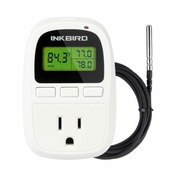 Heater Temperature Controller Seedling Brewing Reptiles Thermostat Heating Only $21.59