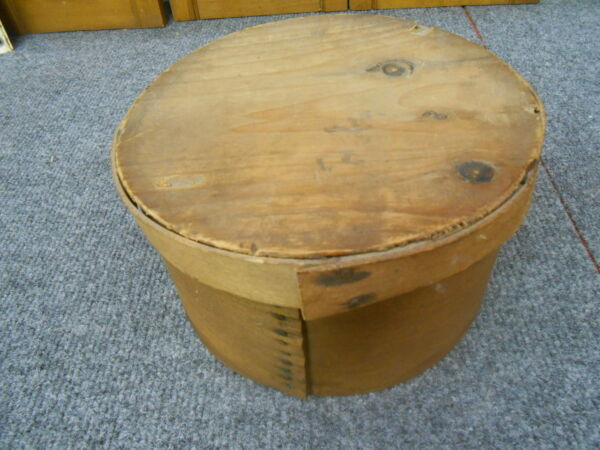 ANTIQUE PRIMITIVE WOOD PANTRY BOX 7.5quot; WIDE