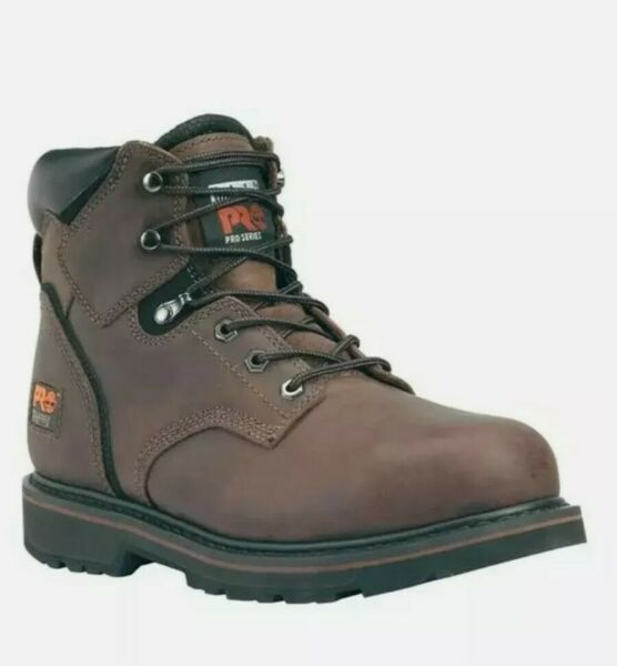 Men#x27;s Timberland PRO 6quot; Pit Boss Steel Toe Boots Size 10.5 M $39.99