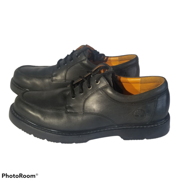 Timberland Work Shoes Leather Lace Up Oxford Black Men#x27;s size 11M $46.79